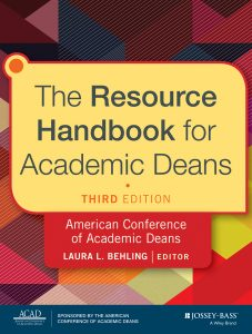 book cover: The Resource Handbook for Academic Deans