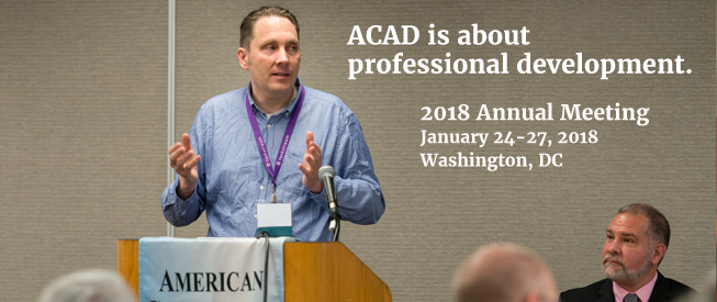 ACAD is about professional development.